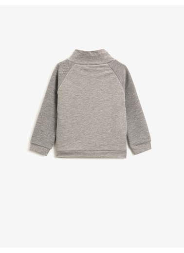 Koton Dik Yaka Uzun Kollu Sweatshirt Gri